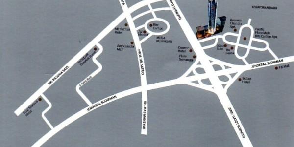 Lokasi Telkom Landmark Tower